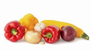 Gemüse für Hühnchenspieß